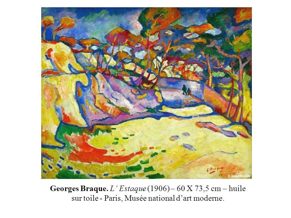 Georges Braque. L' Estaque (1906) – 60 X 73,5 cm – huile sur toile - Paris, Musée national d'art moderne.