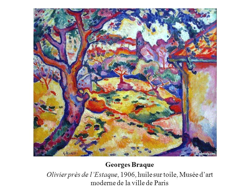 Georges Braque Olivier près de l'Estaque, 1906, huile sur toile, Musée d'art moderne de la ville de Paris