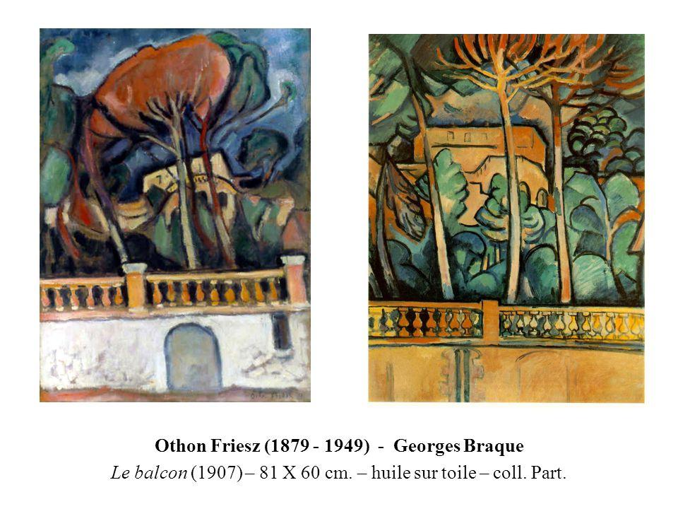 Othon Friesz (1879 - 1949) - Georges Braque Le balcon (1907) – 81 X 60 cm. – huile sur toile – coll. Part.
