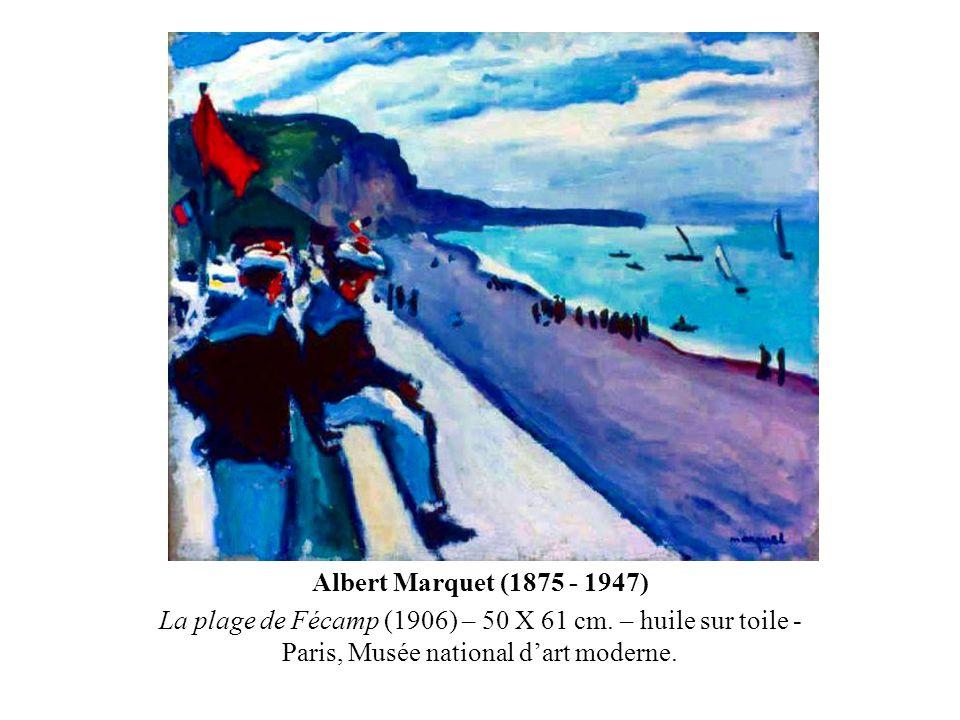 Albert Marquet (1875 - 1947) La plage de Fécamp (1906) – 50 X 61 cm. – huile sur toile - Paris, Musée national d'art moderne.