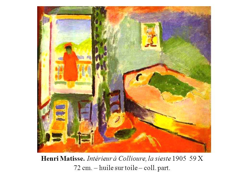 Henri Matisse. La fenêtre ouverte, 1905 – 55,2 X 46 cm. huile sur toile – coll. Part.