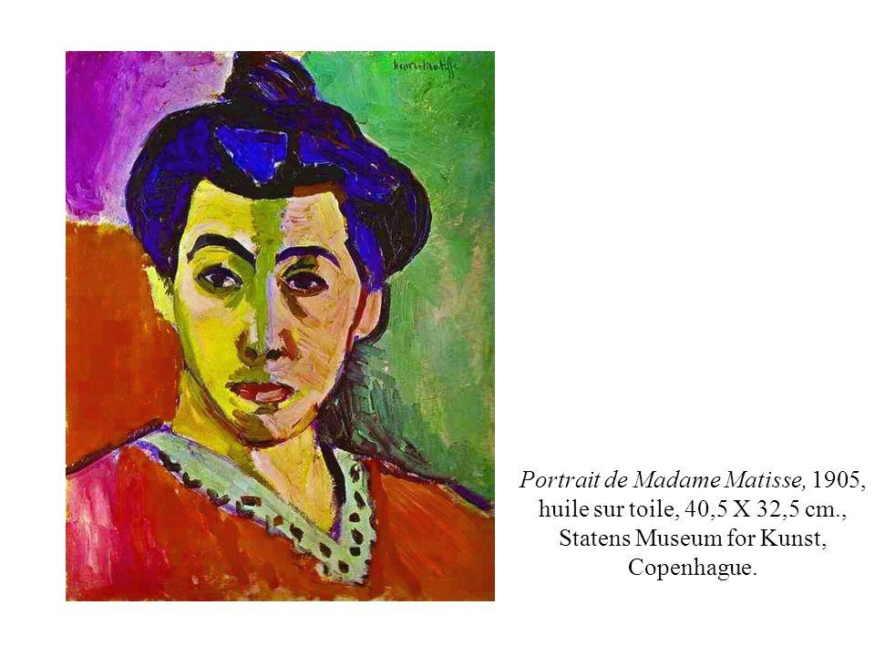 Henri Matisse.La femme au chapeau (1905) – 80,6 X 59,7 cm.