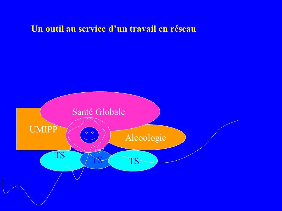 Perspectives –Un outil au service d'un dispositif cohérent social et sanitaire dispositif cohérent social et sanitaire , travail en réseau affiché ( plus que affiche de réseau..) Outil ?, service .