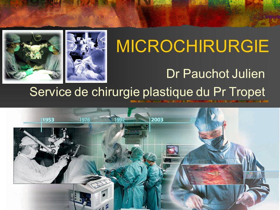 MICROCHIRURGIE Dr Pauchot Julien Service de chirurgie plastique du Pr Tropet