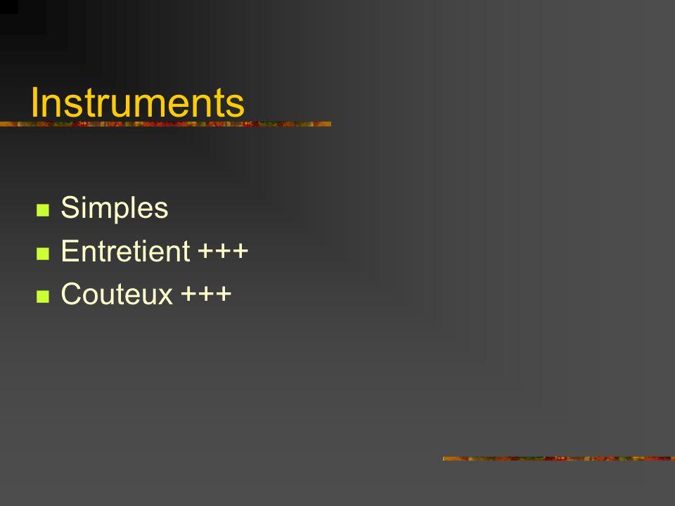 Instruments Simples Entretient +++ Couteux +++