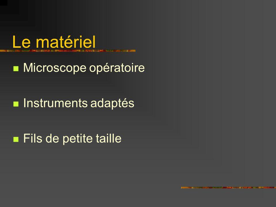 Le rôle de l'instrumentiste Peu actif Peu technique Mais fondamental : Nettoyer les instruments!!