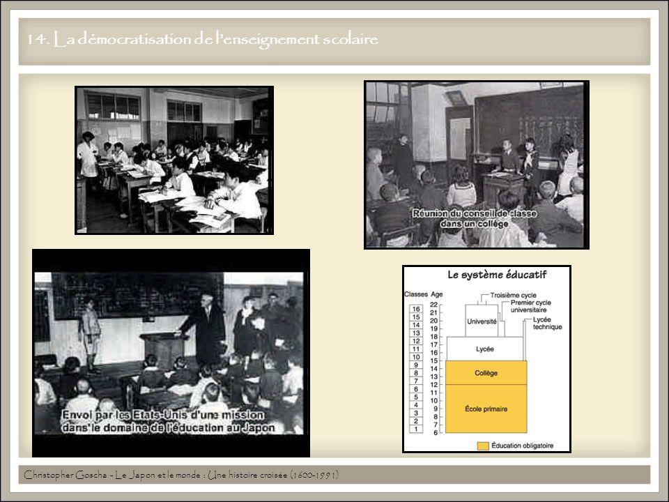 14. La démocratisation de l'enseignement scolaire Christopher Goscha - Le Japon et le monde : Une histoire croisée (1600-1991)