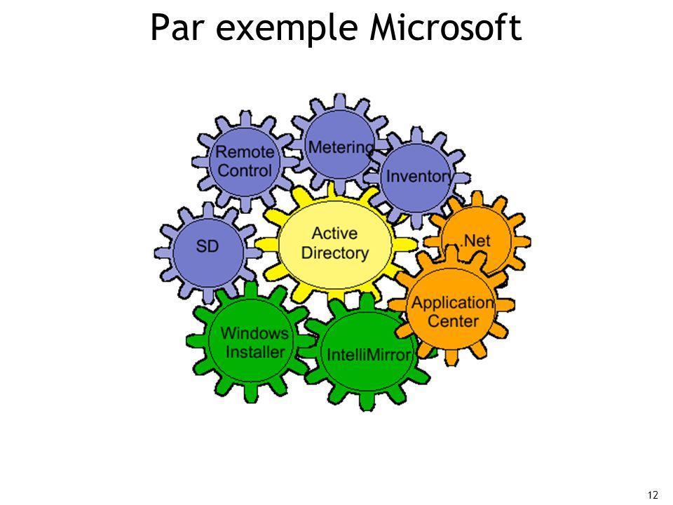 12 Par exemple Microsoft