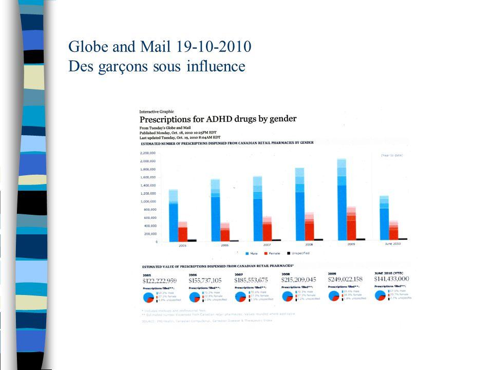 Globe and Mail 19-10-2010 Des garçons sous influence
