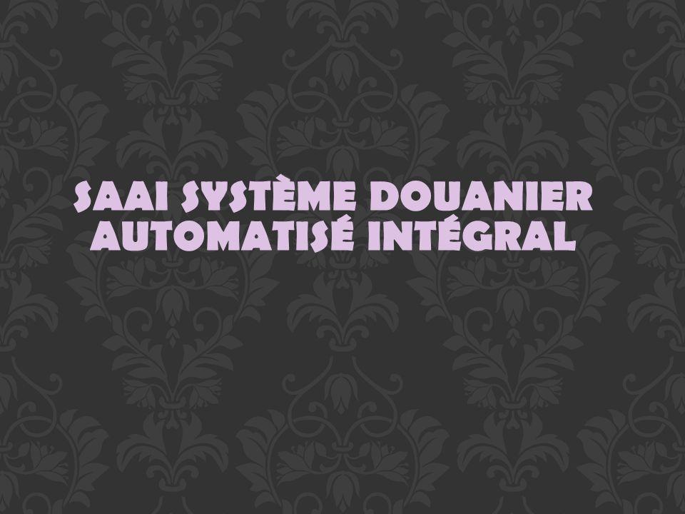 SAAI SYSTÈME DOUANIER AUTOMATISÉ INTÉGRAL