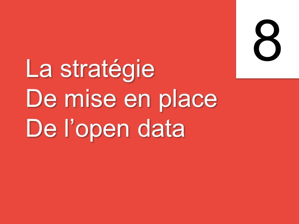 La stratégie De mise en place De l'open data La stratégie De mise en place De l'open data 8 8