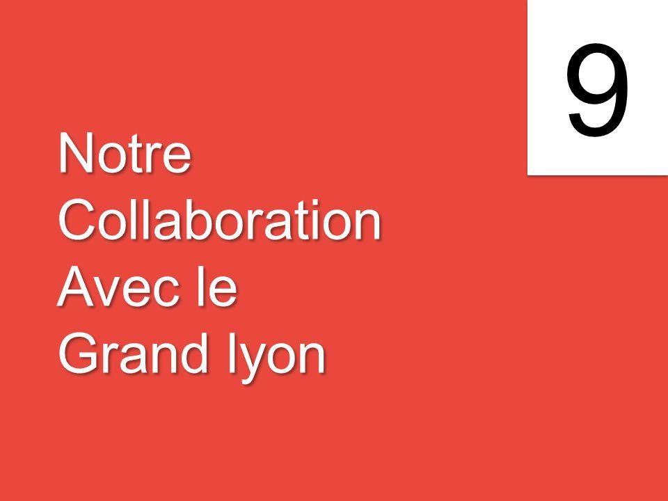 Notre Collaboration Avec le Grand lyon Notre Collaboration Avec le Grand lyon 9 9