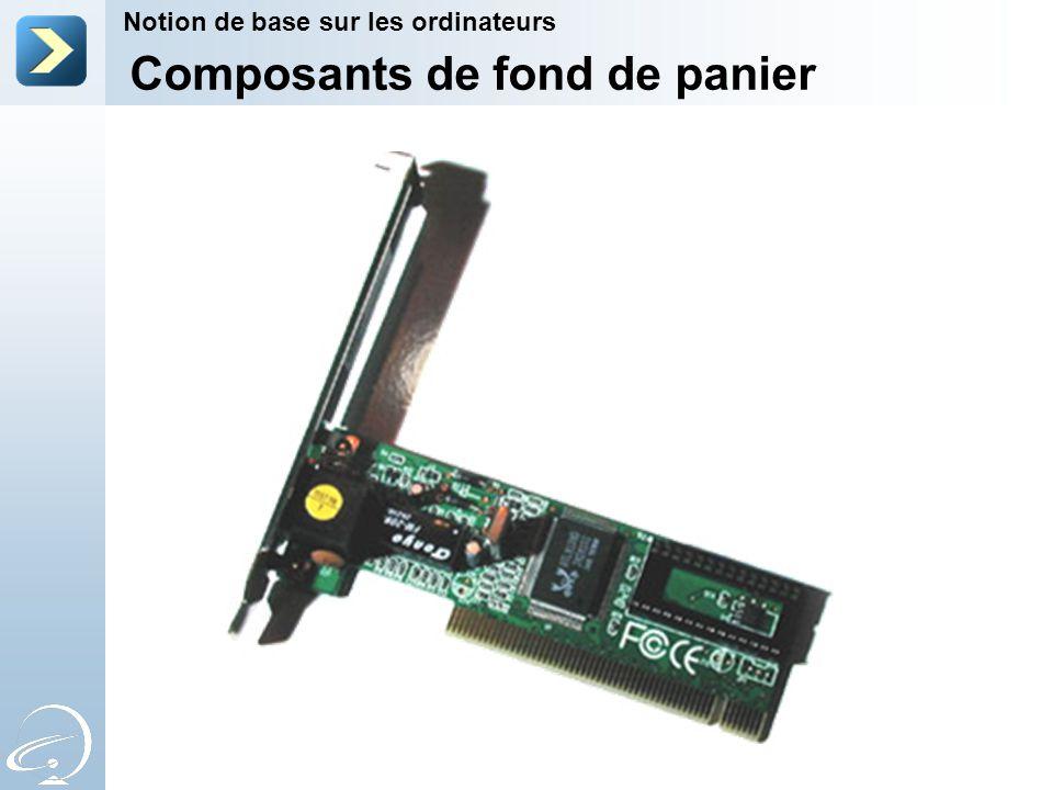 Notion de base sur les ordinateurs Composants de fond de panier