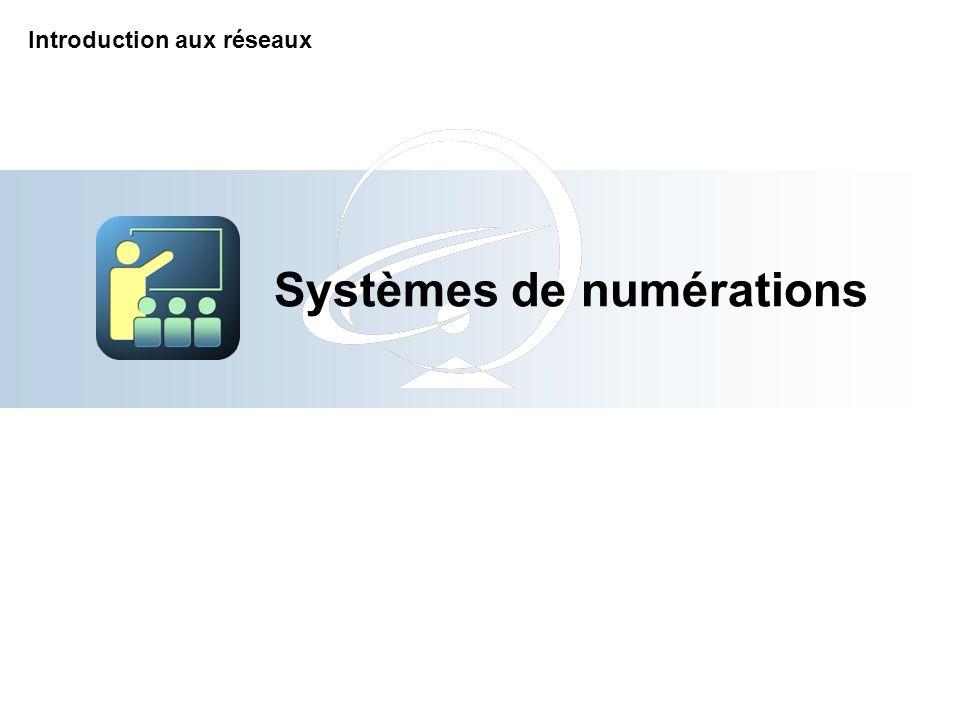 Systèmes de numérations Introduction aux réseaux
