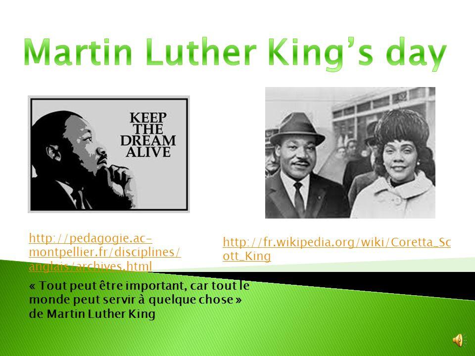 « Rien n'est plus tragique que de rencontrer un individu à bout de souffle, perdu dans le labyrinthe de la vie » de Martin Luther King http://fr.wikipedia.org/wiki/Liste _des_r%C3%A9cipiendaires_de_la _M%C3%A9daille_pr%C3%A9siden tielle_de_la_libert%C3%A9 http://savannah.over- blog.fr/article-martin-luther- king-jr-53275057.html