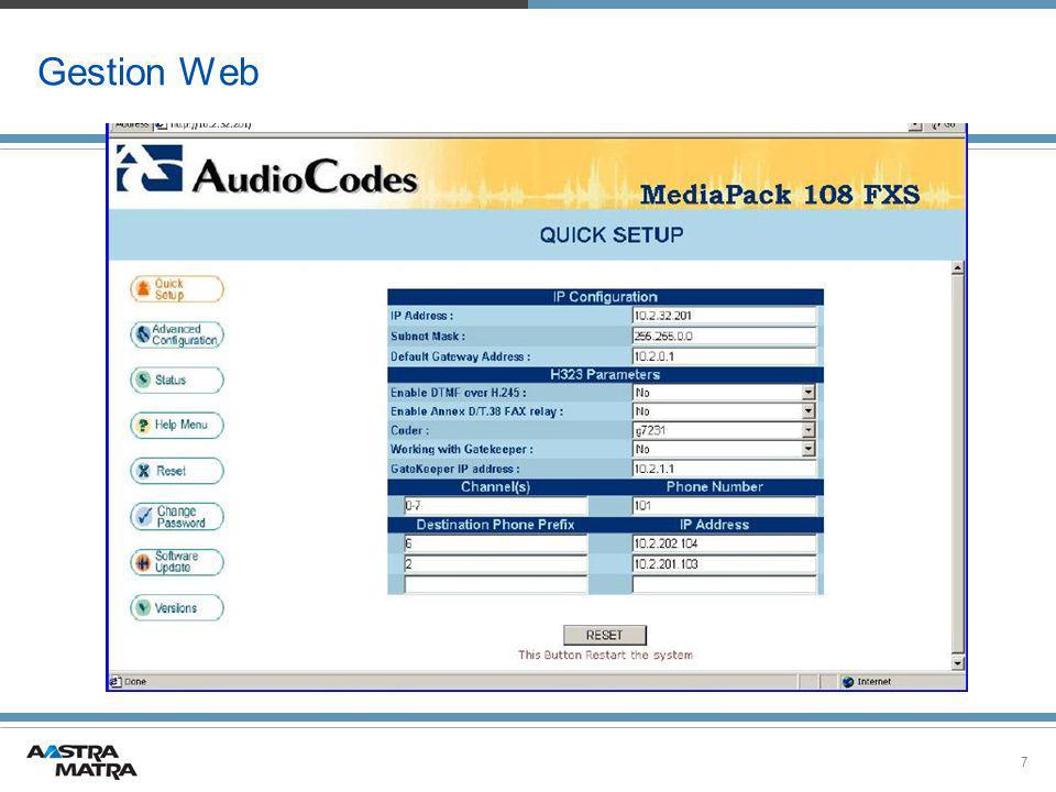 7 Gestion Web