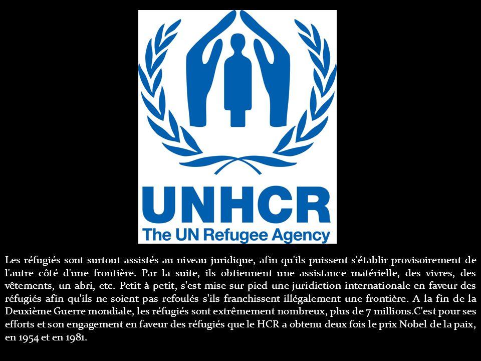 Les réfugiés sont surtout assistés au niveau juridique, afin qu ils puissent s établir provisoirement de l autre côté d une frontière.