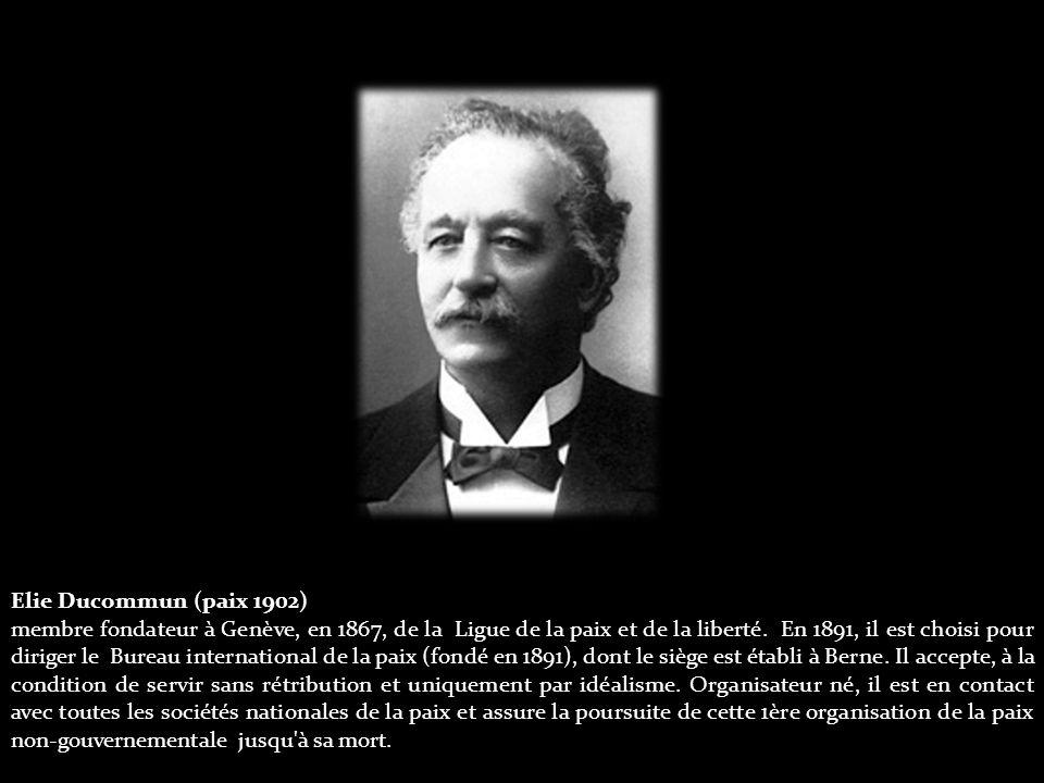 Georges Pire (paix 1958) Il s intéresse tout de suite aux démunis et fonde deux institutions de charité en Belgique.
