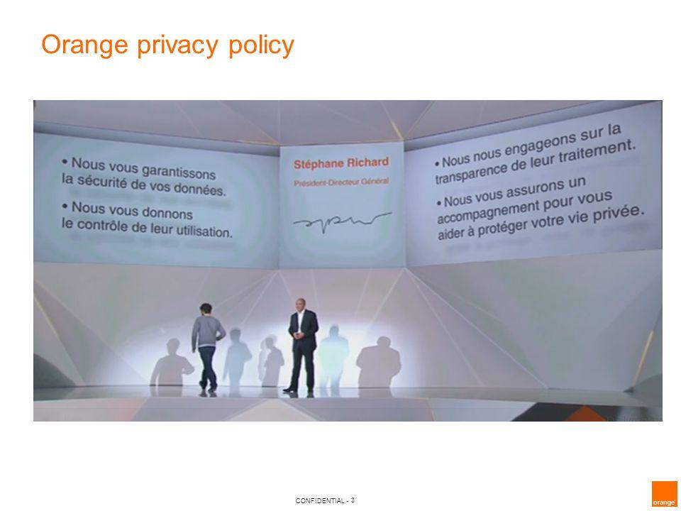 3 CONFIDENTIAL - Orange privacy policy