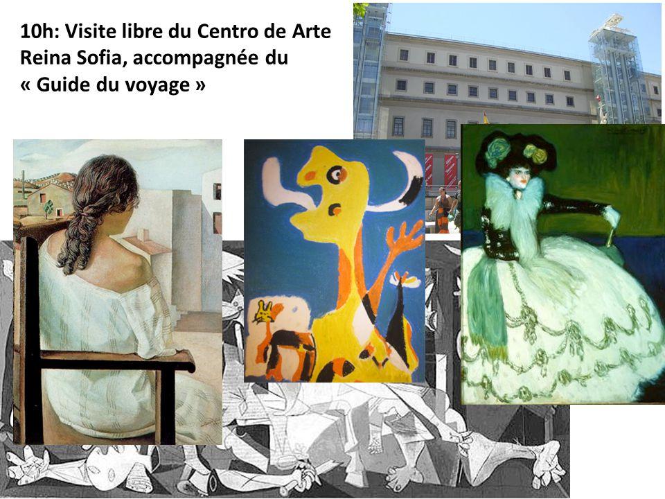 10h: Visite libre du Centro de Arte Reina Sofia, accompagnée du « Guide du voyage »