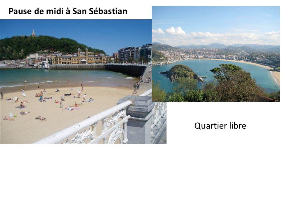 Quartier libre Pause de midi à San Sébastian