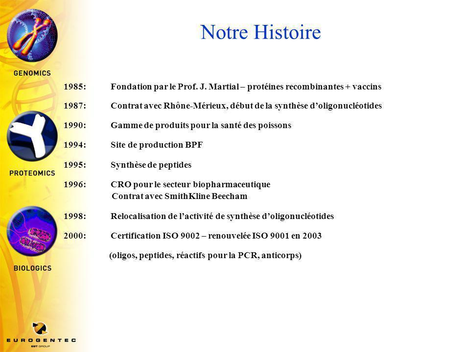 Notre Histoire 1985: Fondation par le Prof.J.