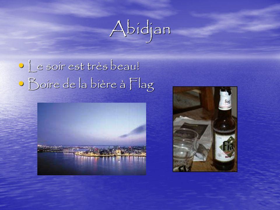 Abidjan Le soir est très beau. Le soir est très beau.