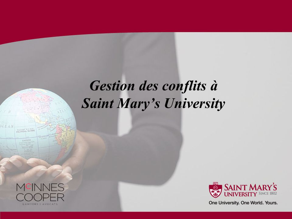 Gestion des conflits à Saint Mary's University