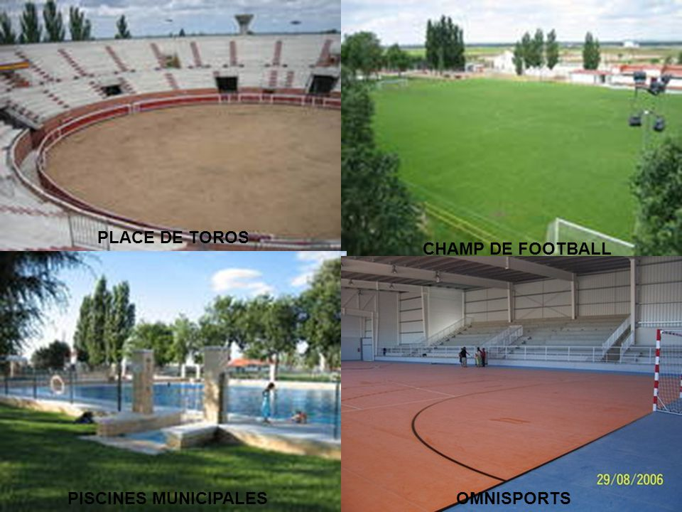 PLACE DE TOROS CHAMP DE FOOTBALL PISCINES MUNICIPALESOMNISPORTS