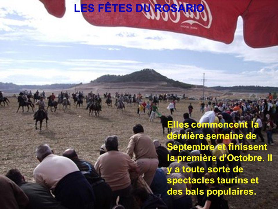 LES FÊTES DU ROSARIO Elles commencent la dernière semaine de Septembre et finissent la première d Octobre.