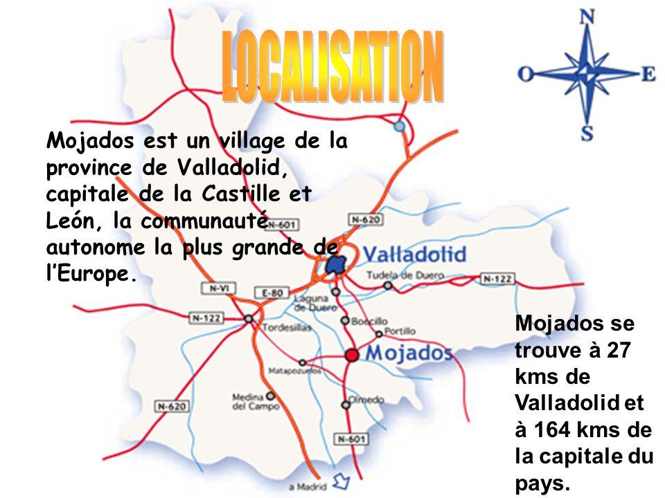 Mojados est un village de la province de Valladolid, capitale de la Castille et León, la communauté autonome la plus grande de l'Europe. Mojados se tr