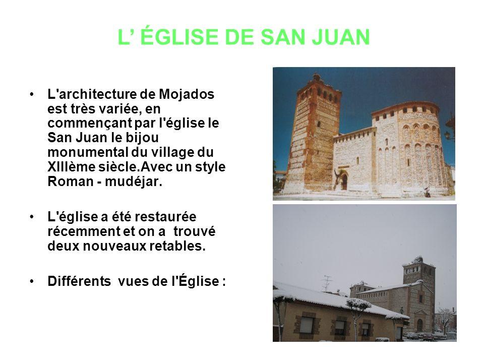L architecture de Mojados est très variée, en commençant par l église le San Juan le bijou monumental du village du XIIIème siècle.Avec un style Roman - mudéjar.