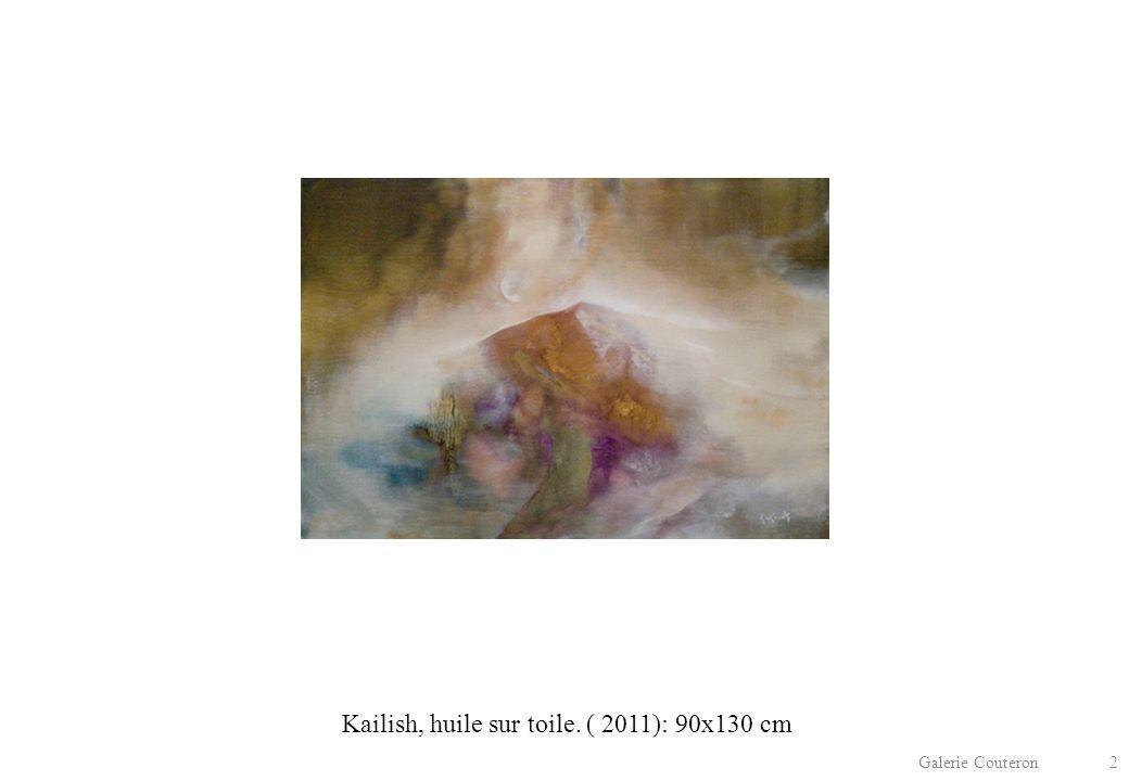 Galerie Couteron 2 Kailish, huile sur toile. ( 2011): 90x130 cm