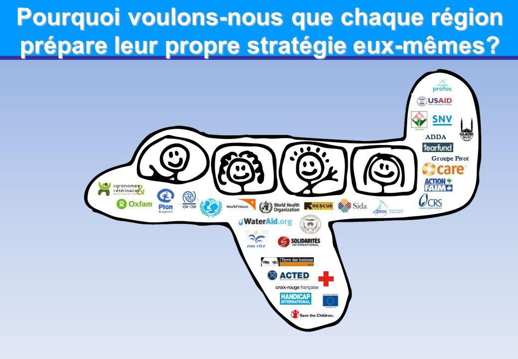 Pourquoi voulons-nous que chaque région prépare leur propre stratégie eux-mêmes? Groupe Pivot ADDA
