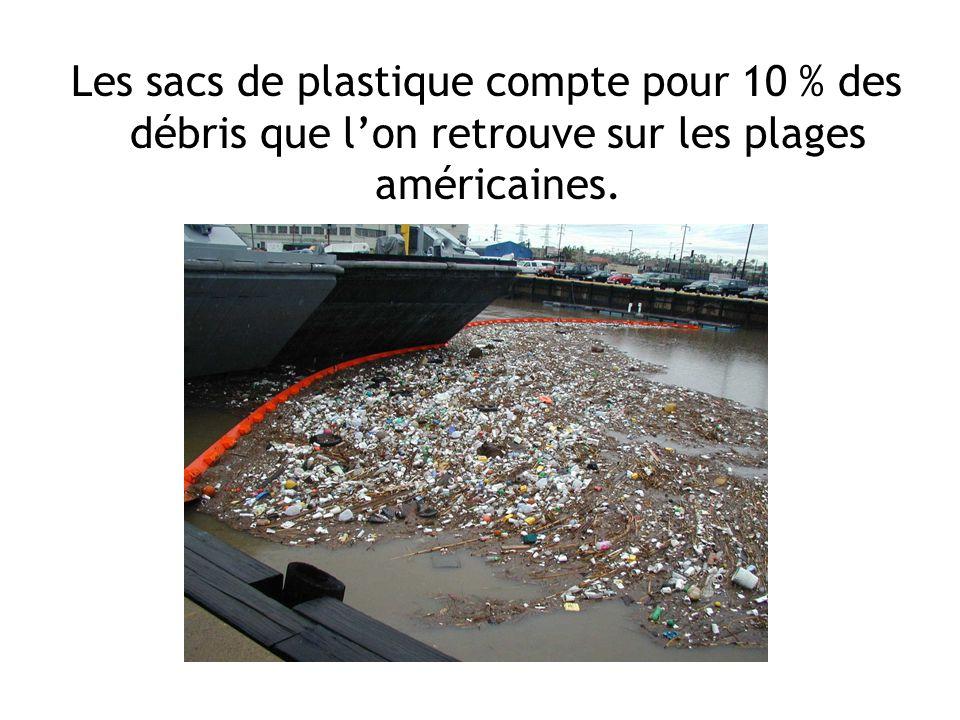 Les sacs de plastique compte pour 10 % des débris que l'on retrouve sur les plages américaines.