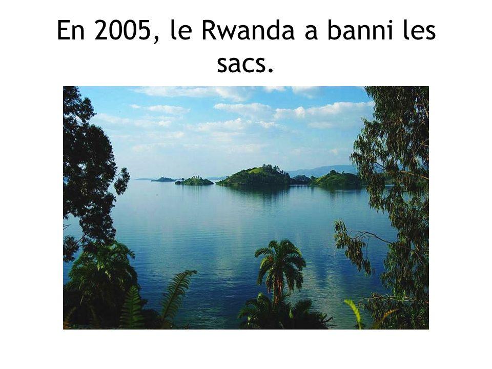 En 2005, le Rwanda a banni les sacs.
