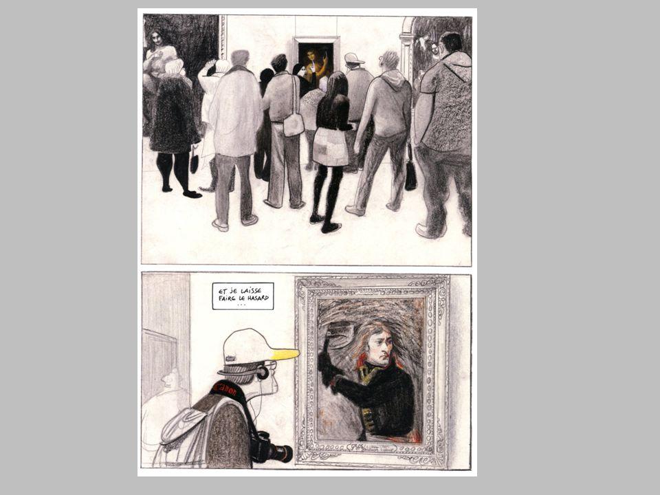 Le radeau de la Méduse, de Théodore GÉRICAULT (1791-1824) Dans la bande dessinée, le groupe de spectateurs semble faire partie du tableau.