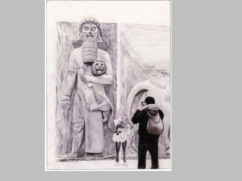 Dans la bande dessinée, l'auteur joue sur la similitude de la posture de la mère et l'enfant avec la sculpture et en détourne ainsi le sens.