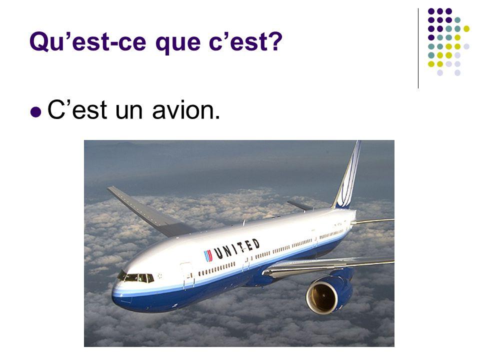 Qu'est-ce que c'est? C'est un avion.