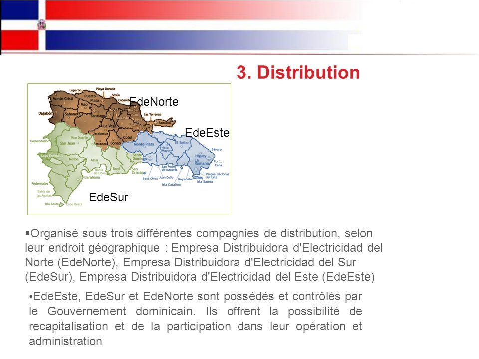 EdeEste, EdeSur et EdeNorte sont possédés et contrôlés par le Gouvernement dominicain.