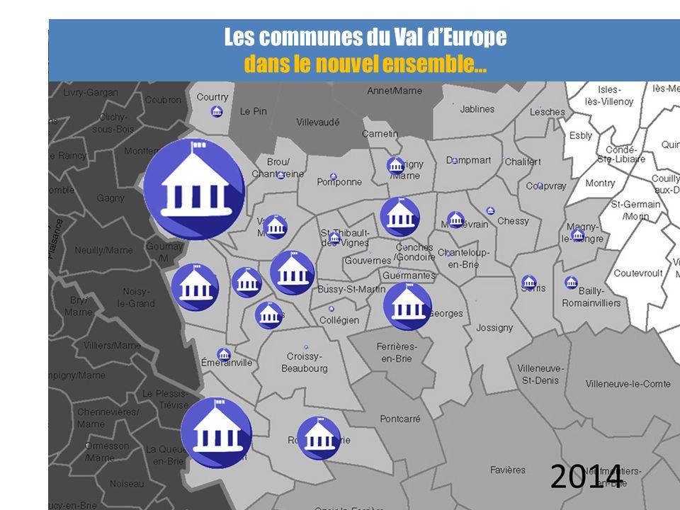 Les communes du Val d'Europe dans le nouvel ensemble…