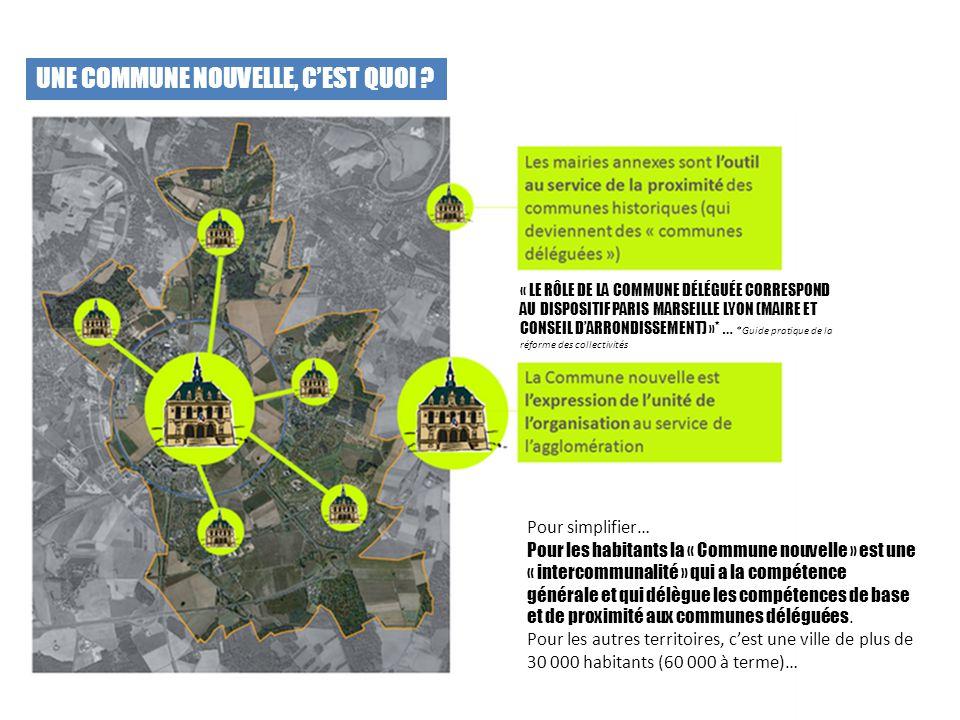 UNE COMMUNE NOUVELLE, C'EST QUOI ? « LE RÔLE DE LA COMMUNE DÉLÉGUÉE CORRESPOND AU DISPOSITIF PARIS MARSEILLE LYON (MAIRE ET CONSEIL D'ARRONDISSEMENT)