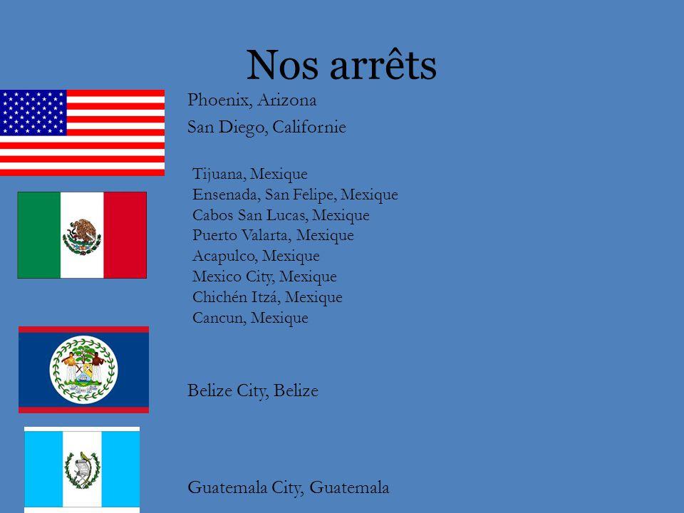 En route vers Guatemala City On visite: Phoenix, San Diego, Tijuana, Ensenada, San Felipe…