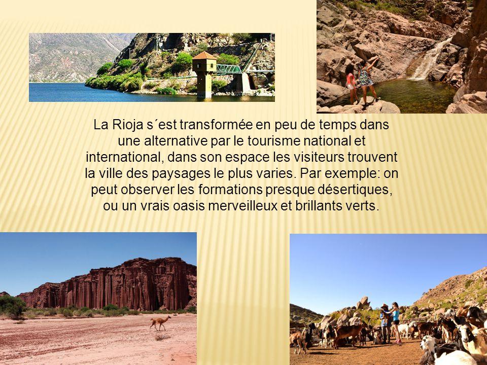 La Rioja s´est transformée en peu de temps dans une alternative par le tourisme national et international, dans son espace les visiteurs trouvent la ville des paysages le plus varies.