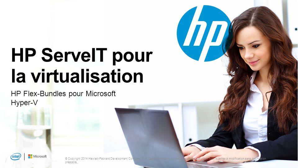 3 Points abordés HP ServeIT pour la virtualisation Où en êtes-vous dans votre processus de virtualisation .