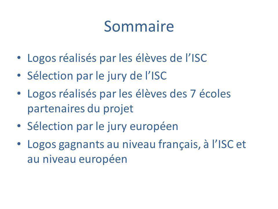 Sommaire Logos réalisés par les élèves de l'ISC Sélection par le jury de l'ISC Logos réalisés par les élèves des 7 écoles partenaires du projet Sélect