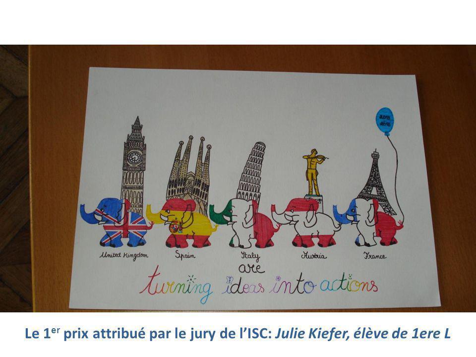 Le 1 er prix attribué par le jury de l'ISC: Julie Kiefer, élève de 1ere L