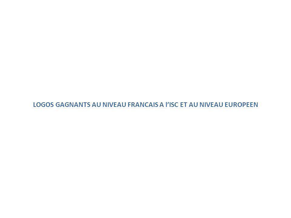 LOGOS GAGNANTS AU NIVEAU FRANCAIS A l'ISC ET AU NIVEAU EUROPEEN