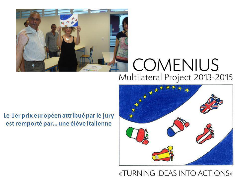 Le 1er prix européen attribué par le jury est remporté par… une élève italienne