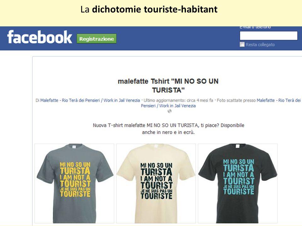 La dichotomie touriste-habitant